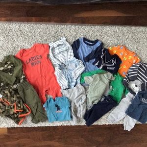 14 piece baby boy 6 month Carter's bundle